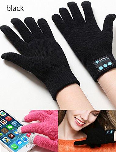 FUQUN Bluetooth V3.0schermo touch Guanti con Funzione parlante per iPhone Samsung Smart Phones/iPad