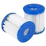 Jamicy 2/4 / 6Pcs Für Bestway Ersatz Filtereinsatz Schwimmbad Pumpe Einfache Einrichtung (2Pcs)