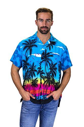 Funky Hawaiihemd, Kurzarm, Beach, türkis, L
