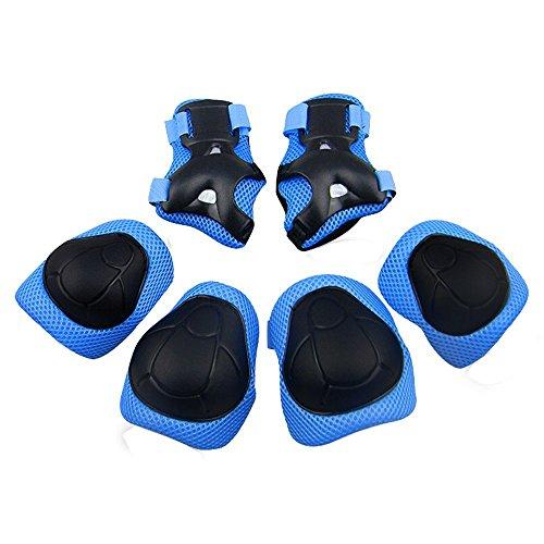 GIM Kind 's Pad Set mit Knie Ellenbogen und Handgelenk Schützer kinder Protektoren Schutzset Blau (Motorrad Kinder Reiten)