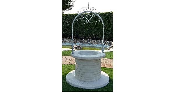 Pozzi Decorativi Da Giardino : Pozzi da giardino melbourne diam cm h grigio con arco in