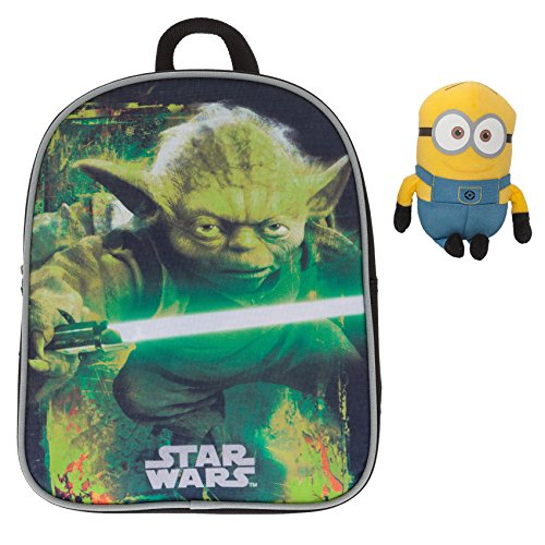 Fabrizio Kinderrucksack Kindergartenrucksack STAR WARS / DISNEY CARS Yoda Darth Vader + MINION Figur 15 cm (STAR WARS Yoda 9004)