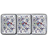 Le Cadeaux Rooster 4 Piece Dip or Appetizer Set, Blue