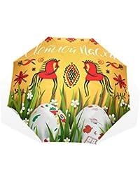 GUKENQ Paraguas de Viaje, Ligero, antirayos UV, para Hombres, Mujeres y niños