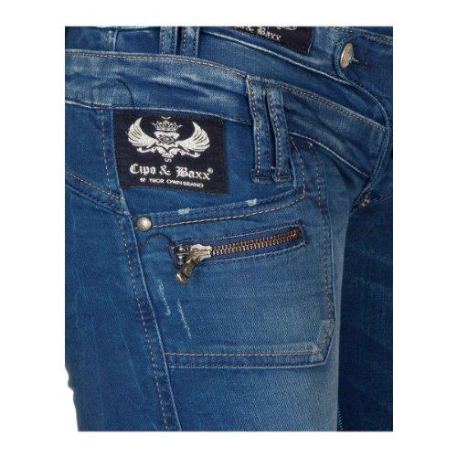 """Cipo & Baxx Jeans """"CBW-0282"""" blue Blue"""