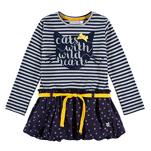 Boboli Knit Stretch Dress For Girl, Vestito Bambina, Blau (Stripes 9307), 3 anni