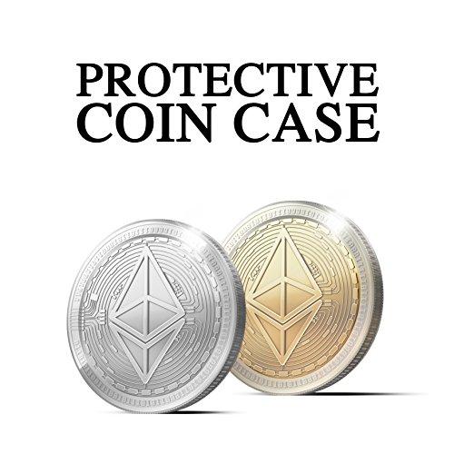 Physische Ethereum Münze mit Echt-Silber überzogen. Wahres Sammlerstück mit Schutzhülle. Ein Muss für jeden Ethereum-Fan + GRATIS E-Book gegen Cyber-Attacken - 4