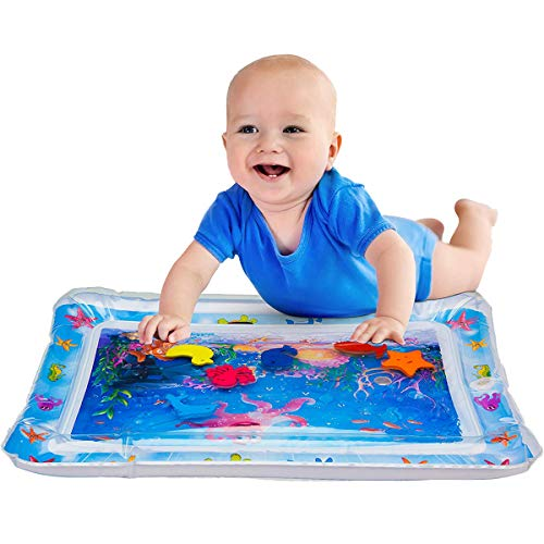 """GHONLZIN Baby aufblasbare Patted Pad - aufblasbare Bauch Zeit Baby Wasser Spielmatte für Kleinkinder Kleinkinder BPA frei auslaufsicher für Neugeborene für Kleinkinder & Kleinkinder 26 \""""x 20\"""""""
