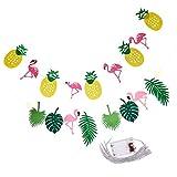 sharplace 2x Sommer Ananas Flamingo Banner & Lichterkette Girlande für Kinder Kindergeburtstag Dekoration