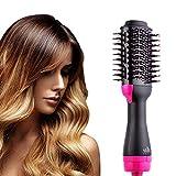 Sèche-cheveux et volumateur en une étape, brosse à air chaud Sèche-cheveux, bigoudi et fer à lisser à ions négatifs 3-en-1 pour tous les types de cheveux (noir)