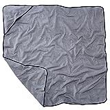 Sowel Kapuzenhandtuch für Erwachsene und Kinder, Badetuch, Handtuch mit Kapuze, 100% Baumwolle, 140x140 cm, Grau Navy