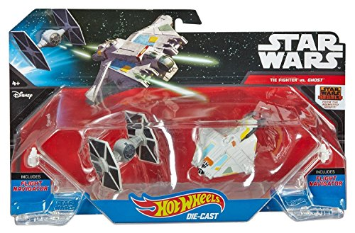 Hot Wheels Star Wars Starships Rebels Ghost vs. TIE Fighter (Wars Star Tie Fighter Rebels)