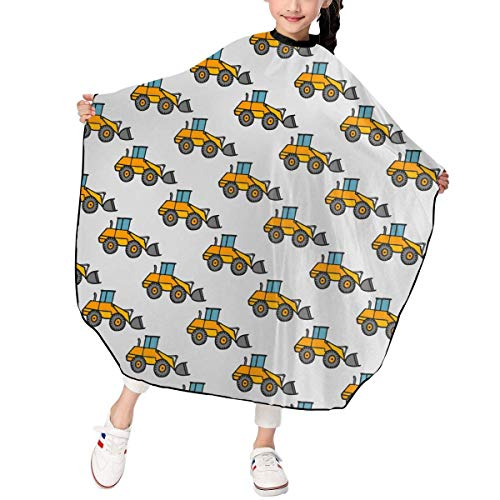 Bulldozer Kostüm - Bulldozer Sketch Pattern Kid's Boys Haircut Barber Cape Cover for Hairdresser Salon Styling