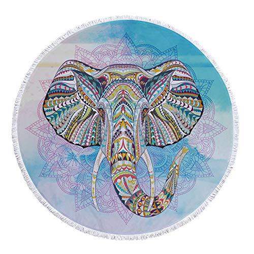 Serviettes de plage en microfibre Motif d'éléphant classique 59 \