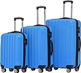 BEIBYE TSA Schloß, Zwillingsrollen, Dehnungsfuge, Hartschale Trolley Koffer Kofferset Reisekoffer Gepäckset (Türkis)