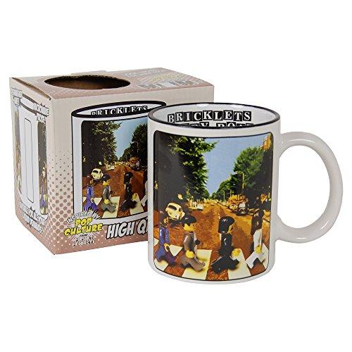 The Beatles Abbey Road Becher Die bricklets Parodie Kaffee Tee Tasse (George Lego)