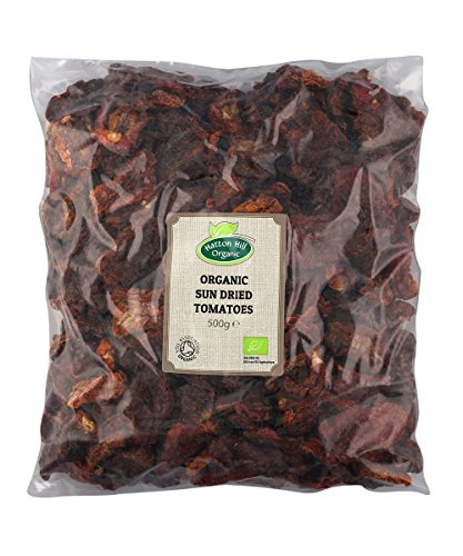Organic Sun Dried Tomatoes Halves 500g by Hatton Hill Organic - Certified Organic Test