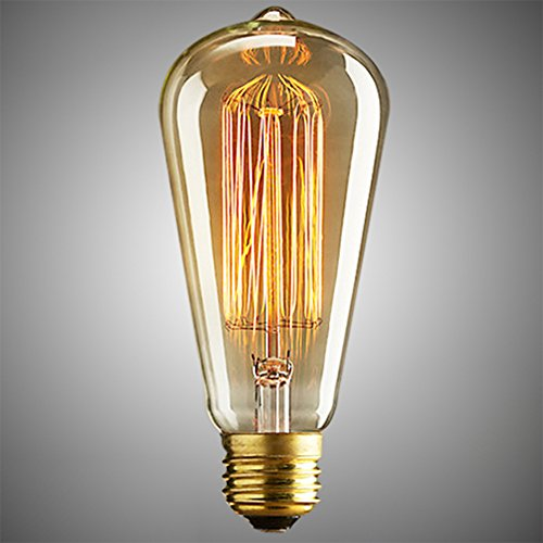 40W E27 Vendimia LED Edison Filamento Bombillas Incandescente Edison bombillas antiguo luz clara de cristal Blanco Cálido