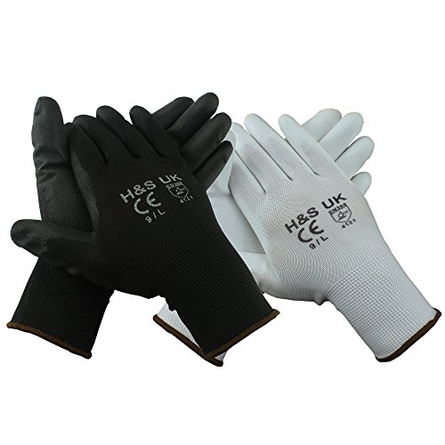 hsr-12-pairs-high-quality-black-nylon-pu-safety-work-gloves-builders-grip-gardening-style-may-slight