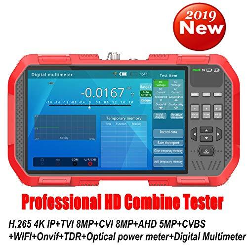 Professioneller HD Kombine Tester DT-A86 7 Zoll H.265 4K IP Kamera Tester 8MP TVI CVI 5MP AHD CVBS CCTV Tester Monitor mit digitalem Multimeter/optischem Leistungsmesser/TDR-Kabel Test (Professionelle Cctv-kamera)