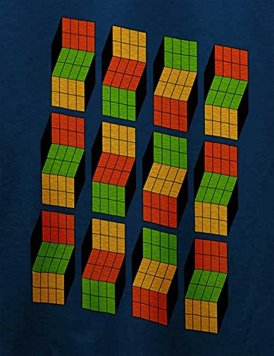Big Bang Theory Rubiks Cube T-Shirt Navy Blau