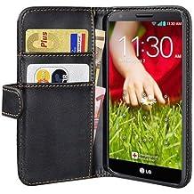 PEDEA Wallet Case - Funda para LG G2 Mini (bolsillo para tarjetas), negro