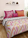 Weaves Pink Printed Cotton Floral King s...