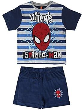 Spiderman Marvel - Pijama Manga Corta 2 Piezas 100% Algodón