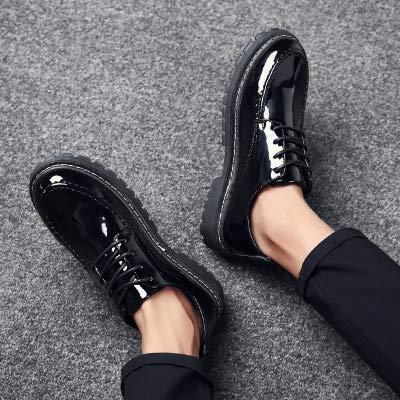 Shukun Bottes pour hommes Chaussures décontractées Brillantes de Haute qualité pour Hommes, Basses pour Aider Martin Boots Wild