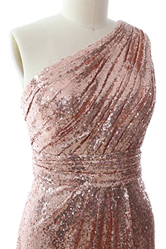 MACloth Women One Shoulder Sequin Long Prom Dress 2017 Formal Party Evening Gown Lavendel