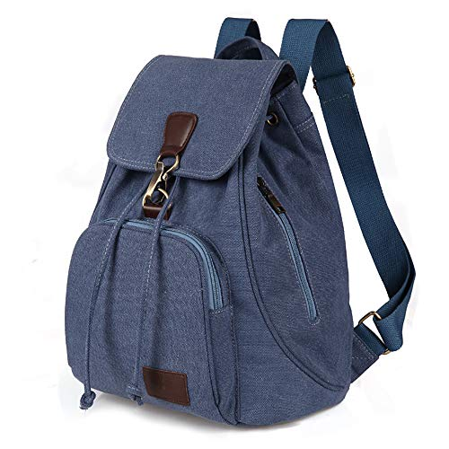 Retro Tide Girls Outdoor Leinwand Rucksack-Tasche Fashion Rucksack,Lakeblue