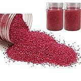 Hobi Lot de 800 GR de Sable décoratif coloré Rouge, de 0,60mm à 1mm, pour Déco de Table, Bougeoir, Vase
