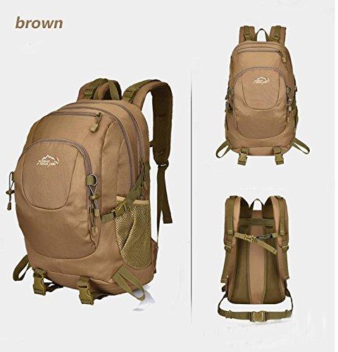 BM Ultra leggero zaino tattico antistrappo, portando loro zaini 35L litro outdoor zaino , brown Brown