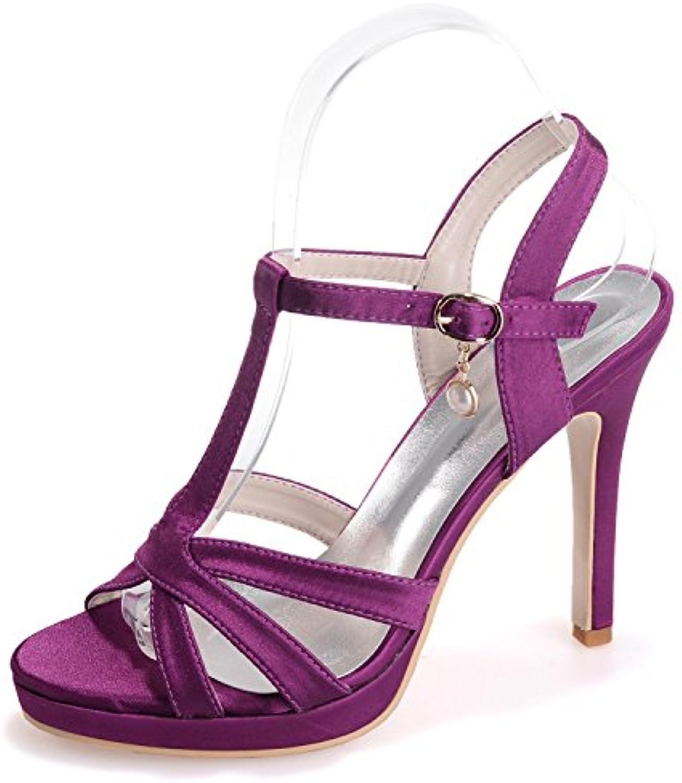 ee24c40c027b Elobaby Scarpe da Sposa da Donna 35-42 T-Strap Sandals Party Elegante da