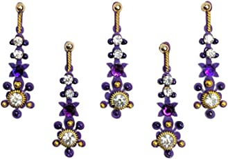 Comet Busters Purple Designer Party Wear Bindi
