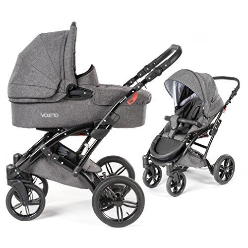 Knorr Baby Voletto passeggino duo 2 in 1 | Set con navicella e passeggino modulare - colore grigio (grey melange)