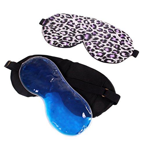 BIANJESUS Schlafmaske Eisbeutel Seide Leopard Frauen Männer Kind Instant Entlasten Müdigkeit Entspannende Heiße Kältetherapie Männlich Weiblich Leichtigkeit Augen