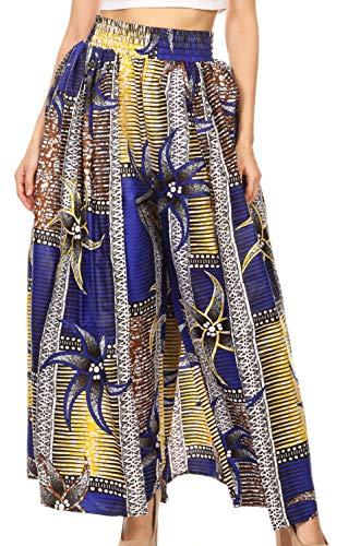 Sakkas 2222 - Lanna Afrikanische Ankara-Print-Ankle-Hose für Damen mit Taschen und Overlay-Pull-up