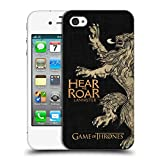 Official HBO Game of Thrones Lannister House Mottos Hard Back Case for Apple iPhone 4 / 4S