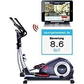 Sportstech CX620 Profi Crosstrainer mit Smartphone App Steuerung + Google Street View, Schwungmasse 21 KG, HRC - Bluetooth - 32 Widerstand Stufen - Heimtrainer Ergometer Ellipsentrainer Stepper