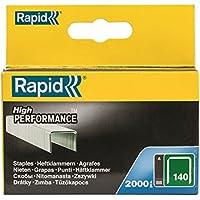 Rapid 11915631 PRO 140 - Grapas para grapadora neumática (14 mm, galvanizadas, 2000 unidades)
