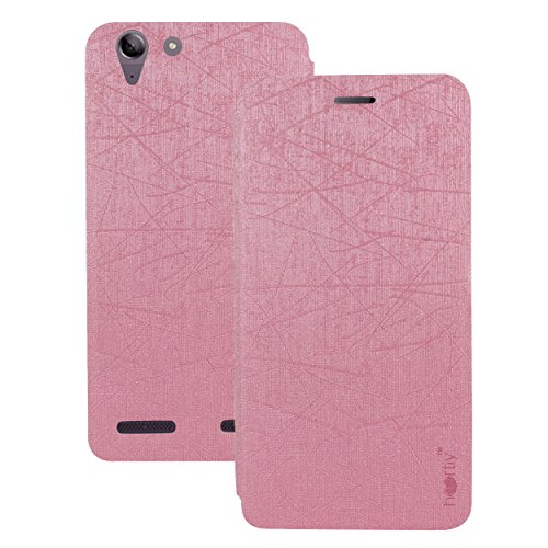 Heartly PURain130-Pink Premium Luxury PU Leather Flip Stand Back Case Cover For Lenovo Vibe K5 Plus / Lenovo Vibe K5,(Cute Pink)