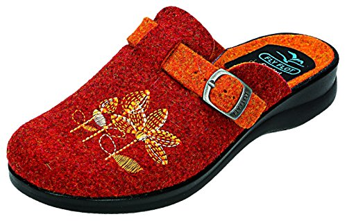 Fly Flot, Pantofole donna Rosso arancione Arancione