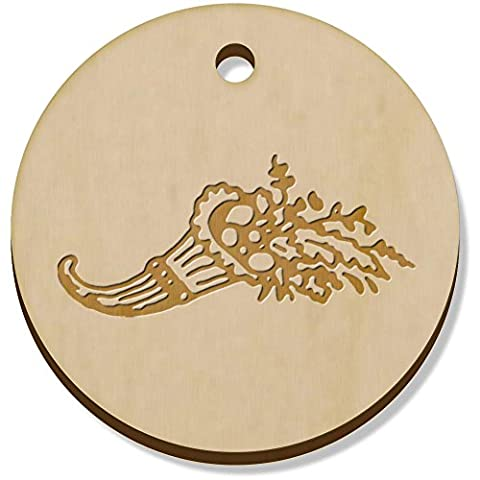 11 x 34mm 'Horn Of Plenty' Wooden Pendants / Charms (PN00038847)