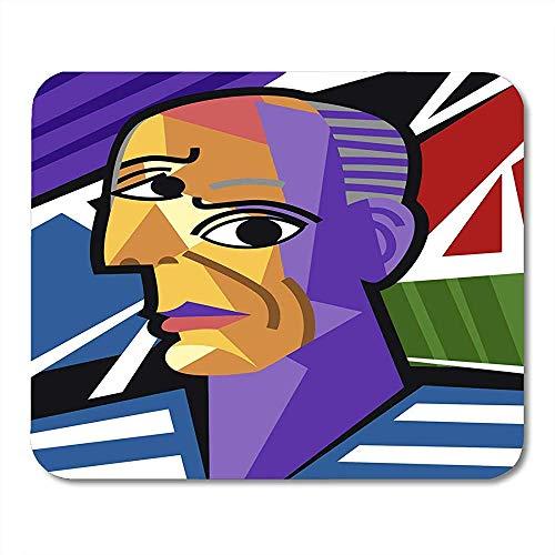 Mauspads Bunte Picasso-Kubist-große Künstler-Porträt-Malerei-moderne Kubismus-Mausunterlage 25 X 30 cm
