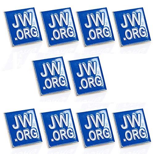Jehovas Witness-JW. ORG Revers PIN-jw. ORG Hals Krawatte Hat Tack Clip Damen oder Herren suits-round oder Quadratisch