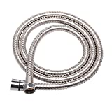 Labkiss 2m Anti-Explosion Leakproof Anti-Kink Flexible Stainless Steel Shower Hose With Solid Brass Connector(6.5Ft)(78.7Inch)
