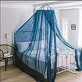 Baldacchino per letto bambina per principessa, zanzariera Rotonda per Cameretta, Tende da letto a baldacchino a cupola rotonda in pizzo per letti singoli o letto matrimoniale,Blue,1.0m(3.3ft)bed