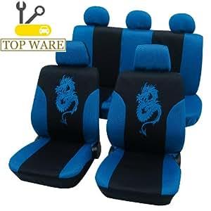 Eco Class Housse de siège Dragon Bleu Housses Noir déjà Housse schonbezüge Housses Housse de siège auto