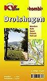 Drolshagen: 1:7.500 Stadtplan mit Gewerbegebieten und Wanderkarte 1:12.500 mit Radrouten (KV-Sauerland-Pläne)